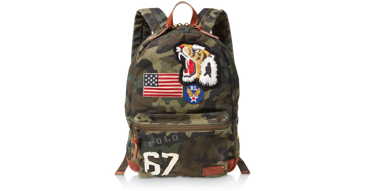Lyst - Polo Ralph Lauren Patchwork Camouflage Canvas Backpack for Men 6231c791784f5