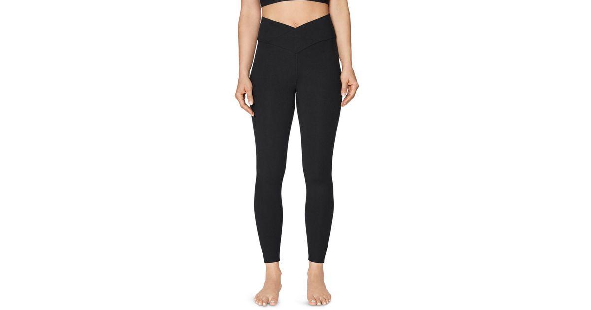 Black V Waist Stretch Leggings