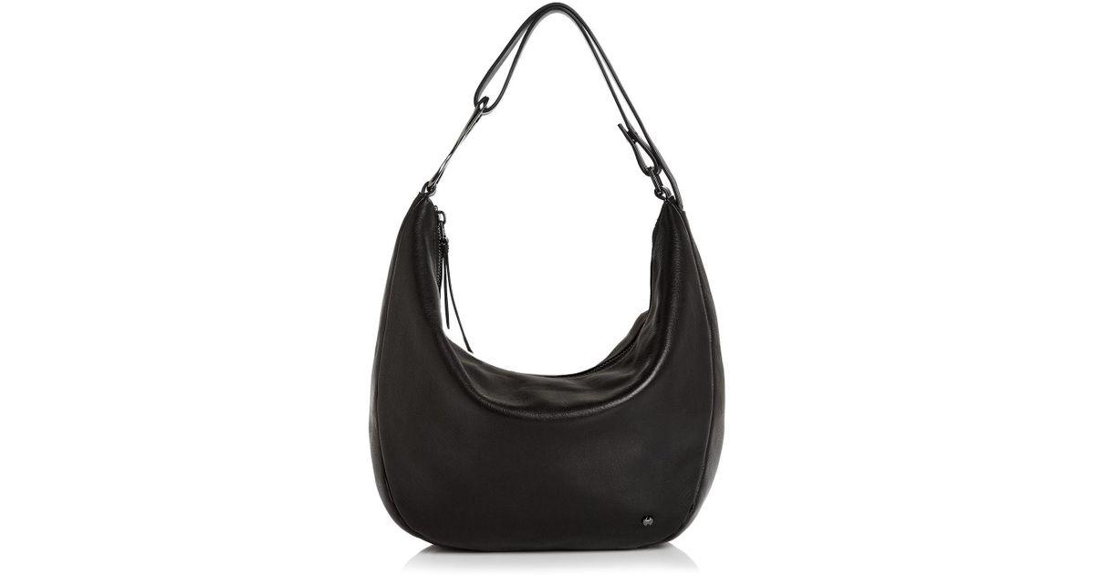 558b91a9b8 Halston Heritage Elsa Three-way Convertible Leather Shoulder Bag in Black -  Lyst