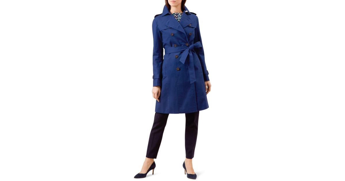 classic styles clearance sale pretty and colorful Hobbs Blue Saskia Trench Coat