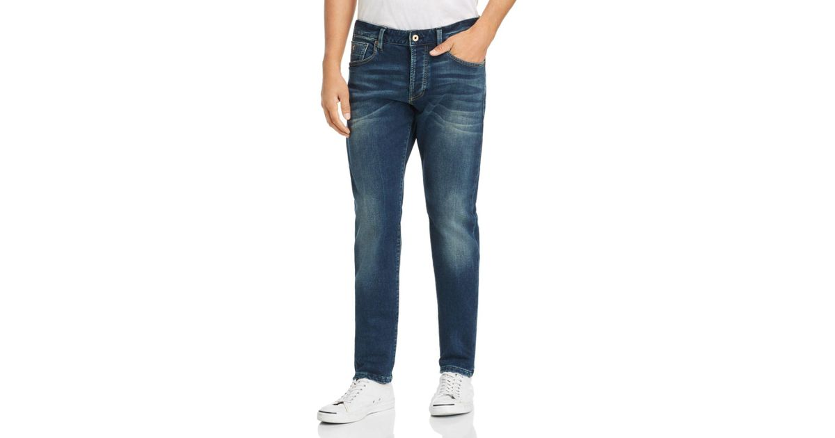 Scotch & Soda Blue Ralston Slim Fit Jeans In Just Move It for men