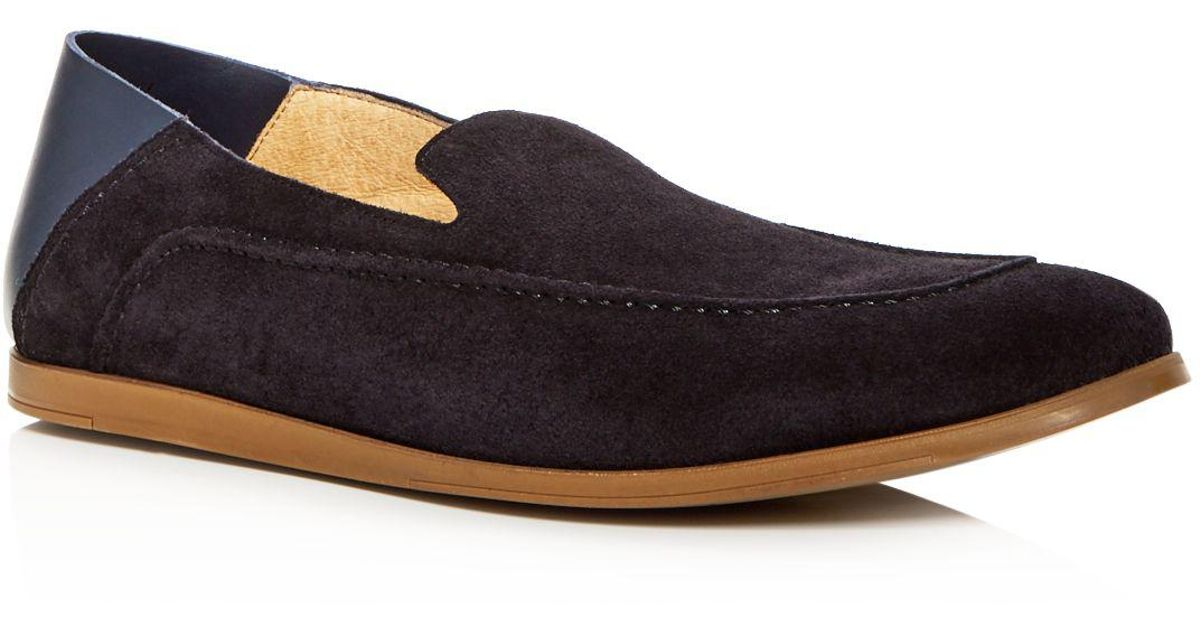 Kenneth Cole Men's Place Suede Apron Toe Convertible Smoking Slippers iZ6f2