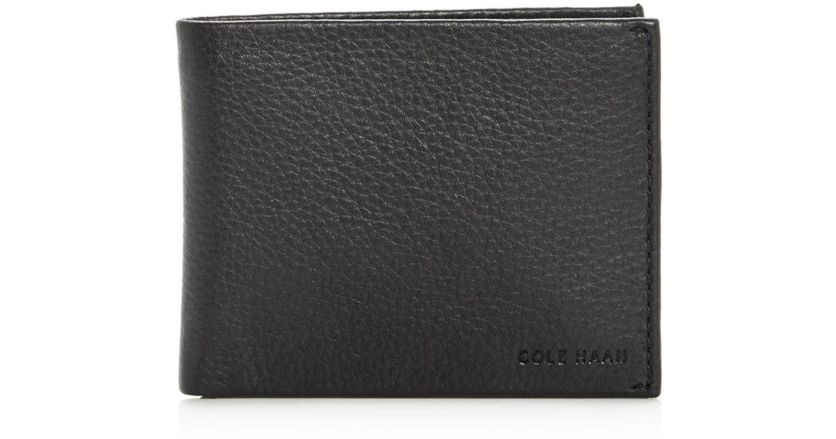 7c049cc121ce Cole Haan Black Matthews Leather Bi - Fold Wallet for men