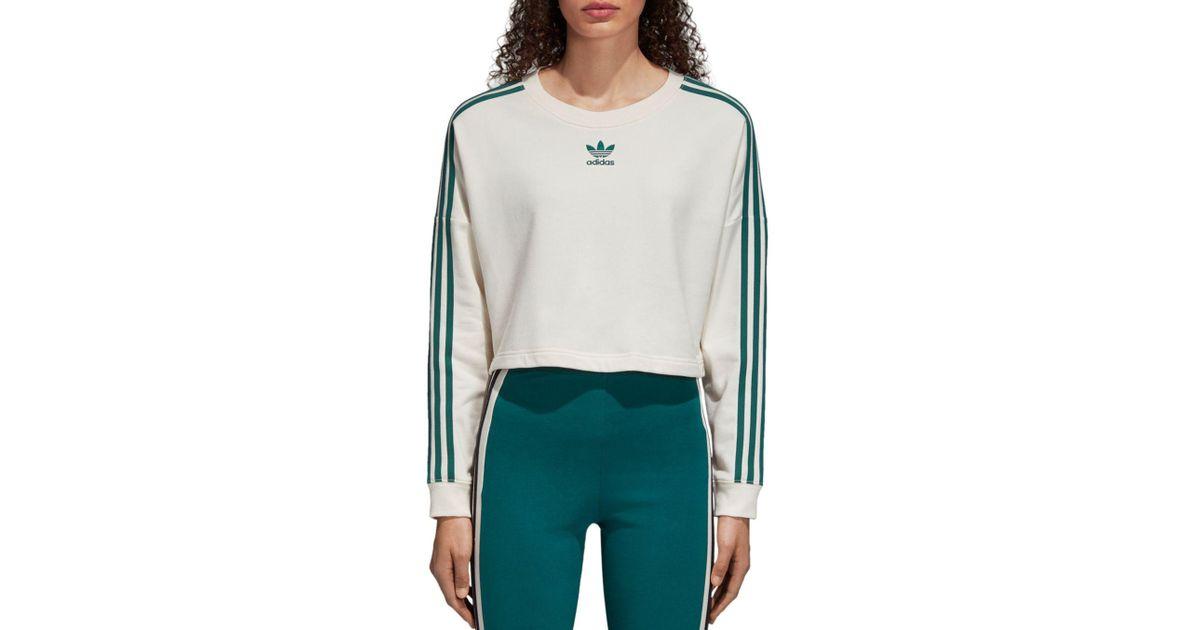 dc7140c772ea Lyst - adidas Originals Adibreak Cropped Sweatshirt in White