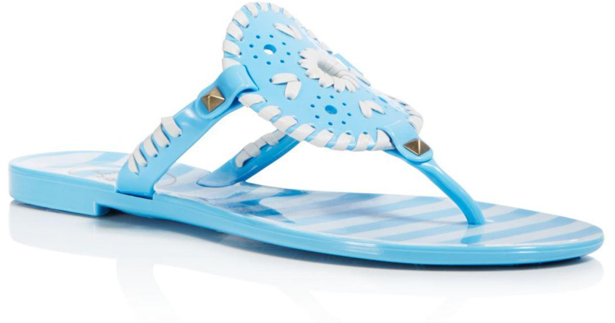 Jack Rogers Women's Georgica Striped Jelly Thong Sandals ecUs2x