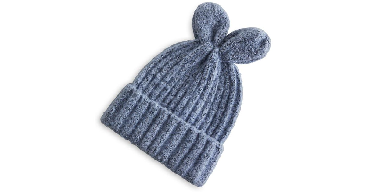 Bcbgeneration Bunny Ears Beanie in Blue - Lyst 7d3db4e1b38e