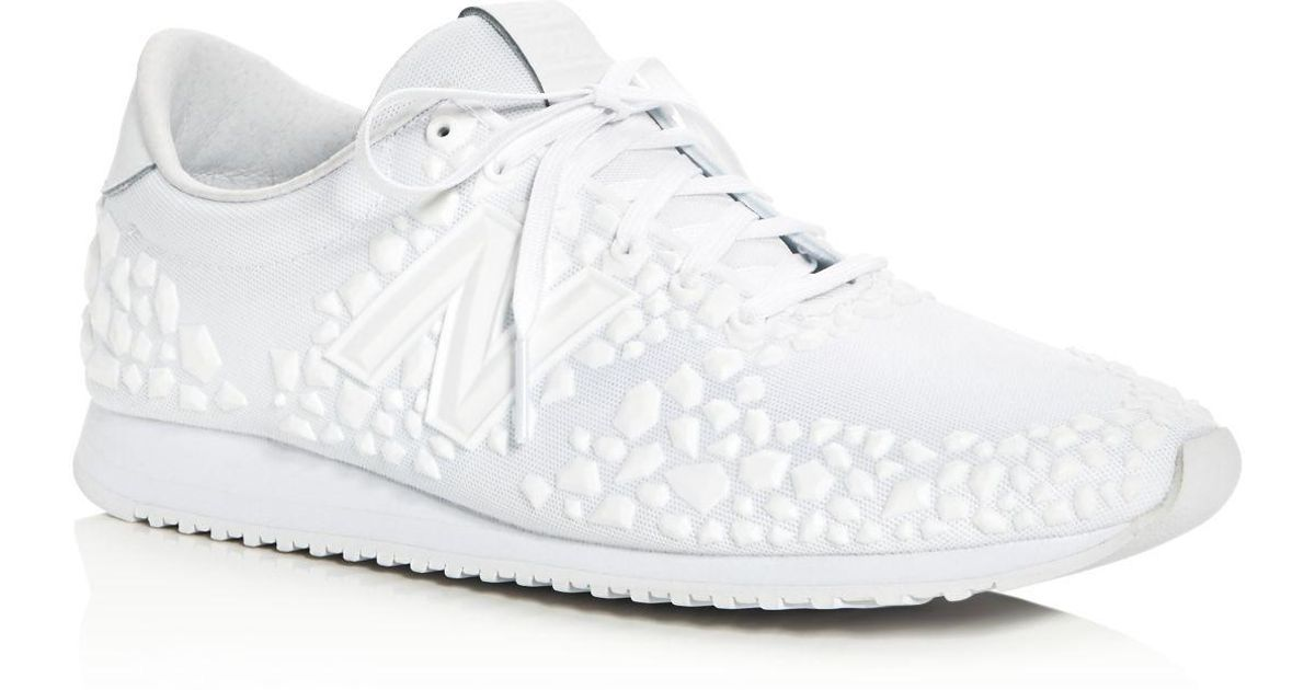 Lyst - New Balance Women s 420 Re-engineered Embossed Lace Up Sneakers in  White e4cc0e0a7