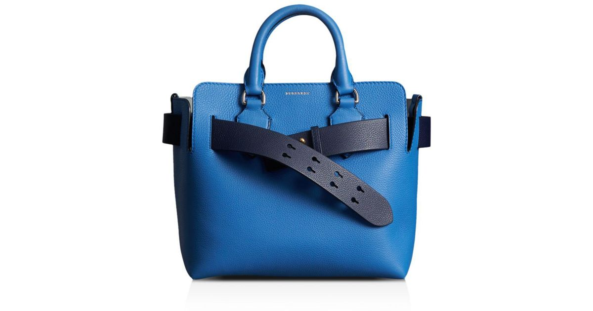 f533f2a44eb Burberry Blue Small Leather Belt Bag
