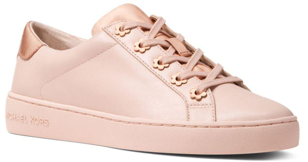 11c4e4171acd Lyst - MICHAEL Michael Kors Women s Irving Leather Lace Up Sneakers in Pink