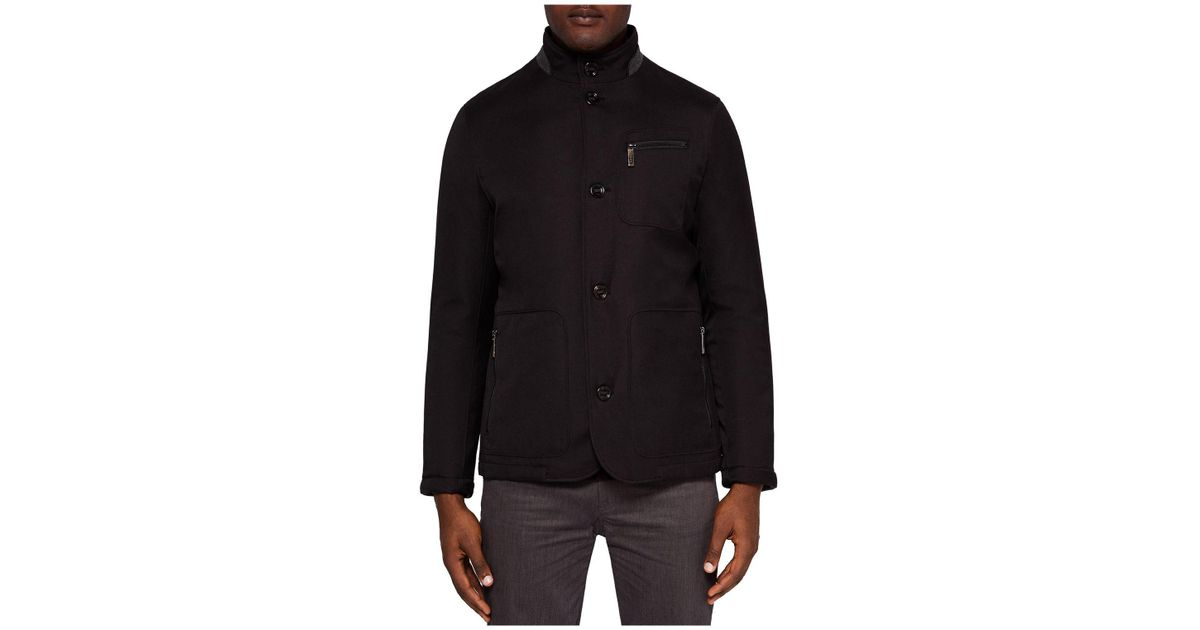 5a18c374301a1b Lyst - Ted Baker Romeo Funnel-neck Padded Jacket in Black for Men