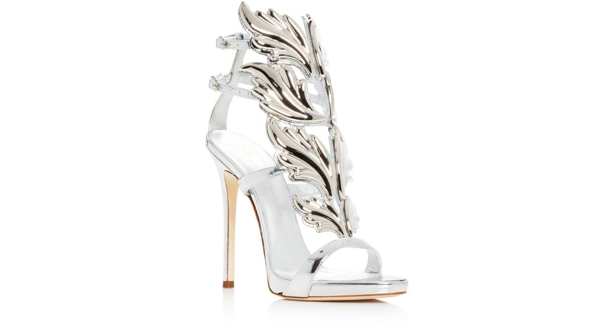 c0c57cec86d Giuseppe Zanotti Multicolor Women's Cruel Coline Wing Embellished High-heel  Sandals