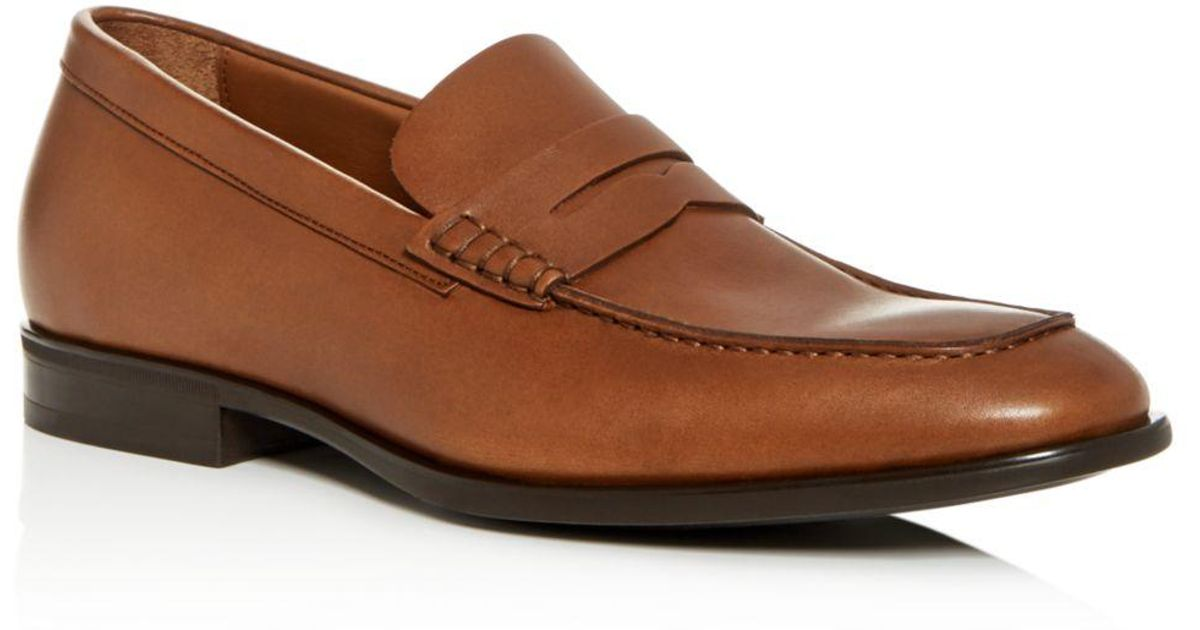 b15f9a4769b Lyst - Aquatalia Men s Adamo Weatherproof Leather Penny Loafers in Brown  for Men