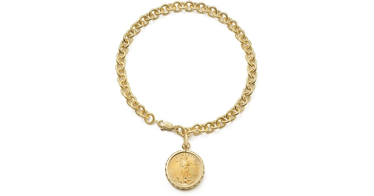 acbfd589ef2e4 Bloomingdale's Metallic Coin Charm Bracelet In 14k Yellow Gold