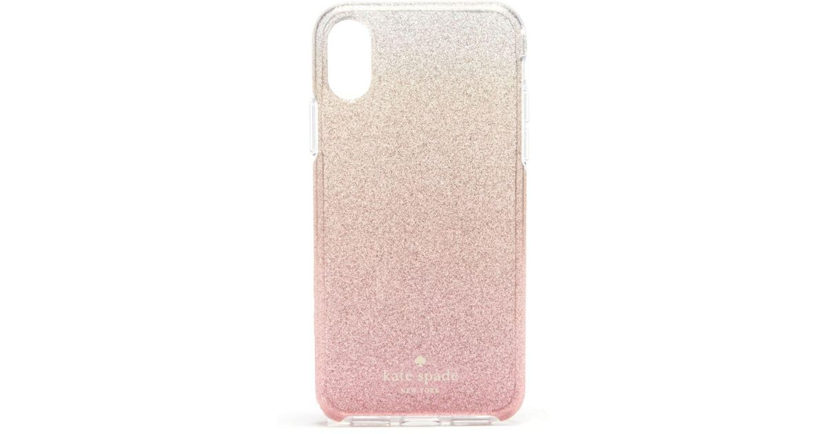 pretty nice aeba3 6ff0a Kate Spade Pink Ombré Glitter Iphone X Case