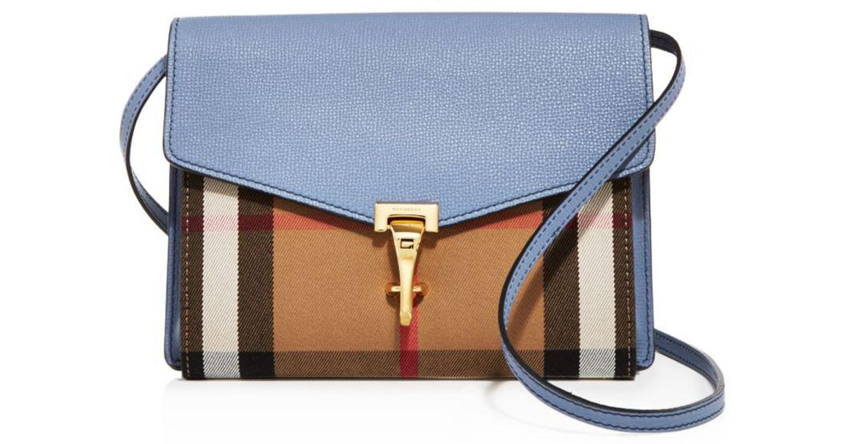 e1dd83208a55 Lyst - Burberry Macken House Check Small Crossbody in Blue