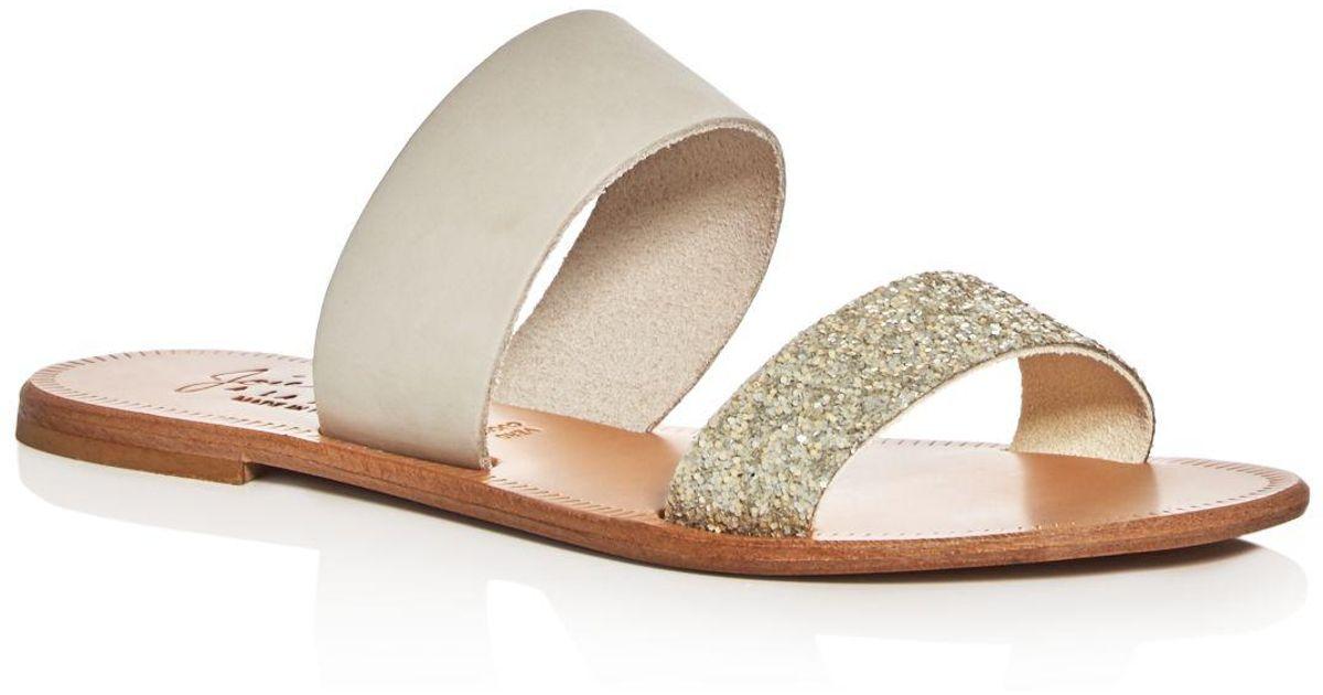 142f711dda5f Lyst - Joie Sable Glitter Slide Sandals
