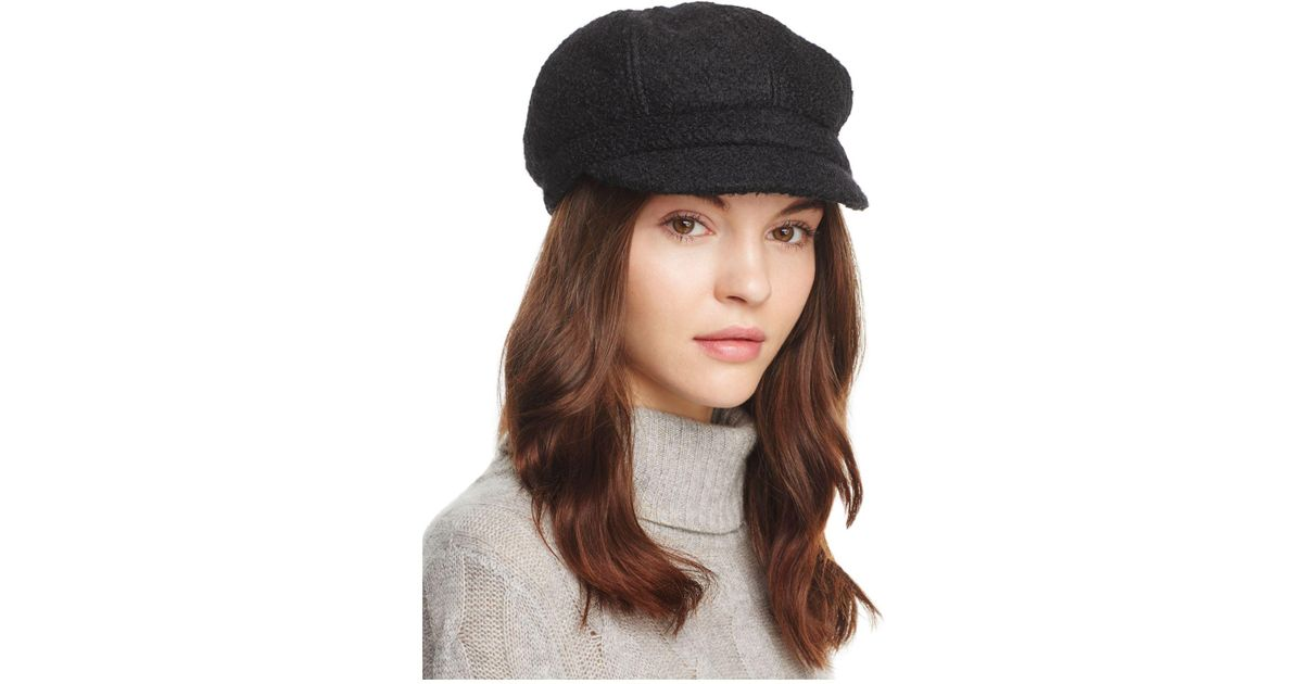 fc8b323bf82 August Hat Company Bouclé Newsboy Cap in Black - Lyst