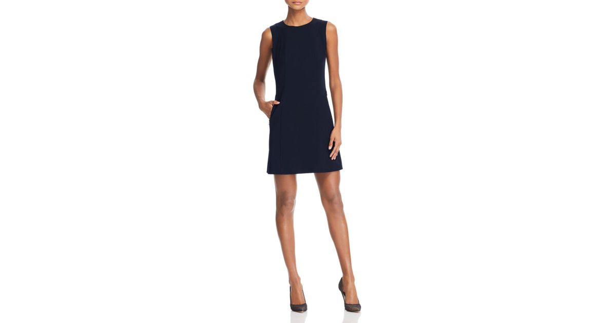 daf9e48cb96 ... Lyst - Theory Helaina Shift Dress in Blue huge selection of 5b93d 99848  ...