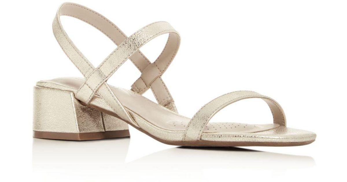 712fd9f7820 Kenneth Cole Metallic Women's Maisie Slingback Block - Heel Sandals