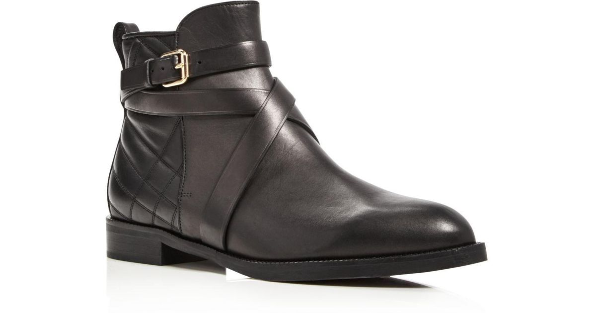 Burberry Vaughan Belted Leather Booties sLMChhW