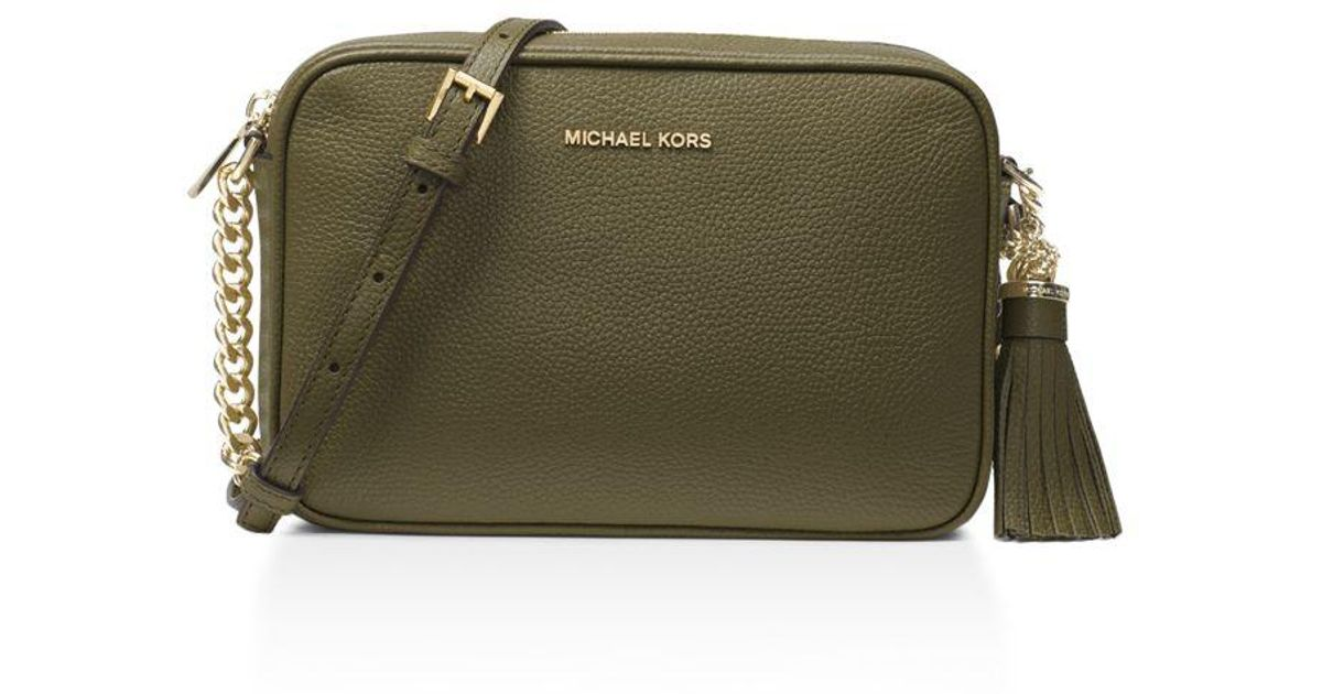 b101b7c1e74c ... coupon code lyst michael michael kors ginny medium leather camera bag  in green dcb6d 29344