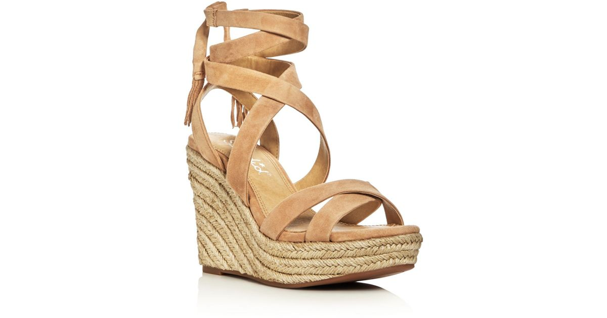 490523c7023 Splendid Multicolor Janice Ankle Tie Espadrille Wedge Sandals