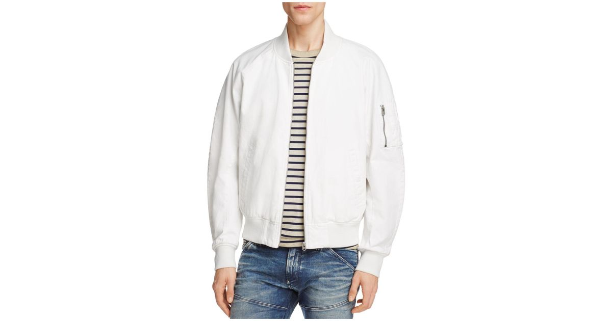 92838a319 G-Star RAW - White Attacc Cotton Bomber Jacket for Men - Lyst