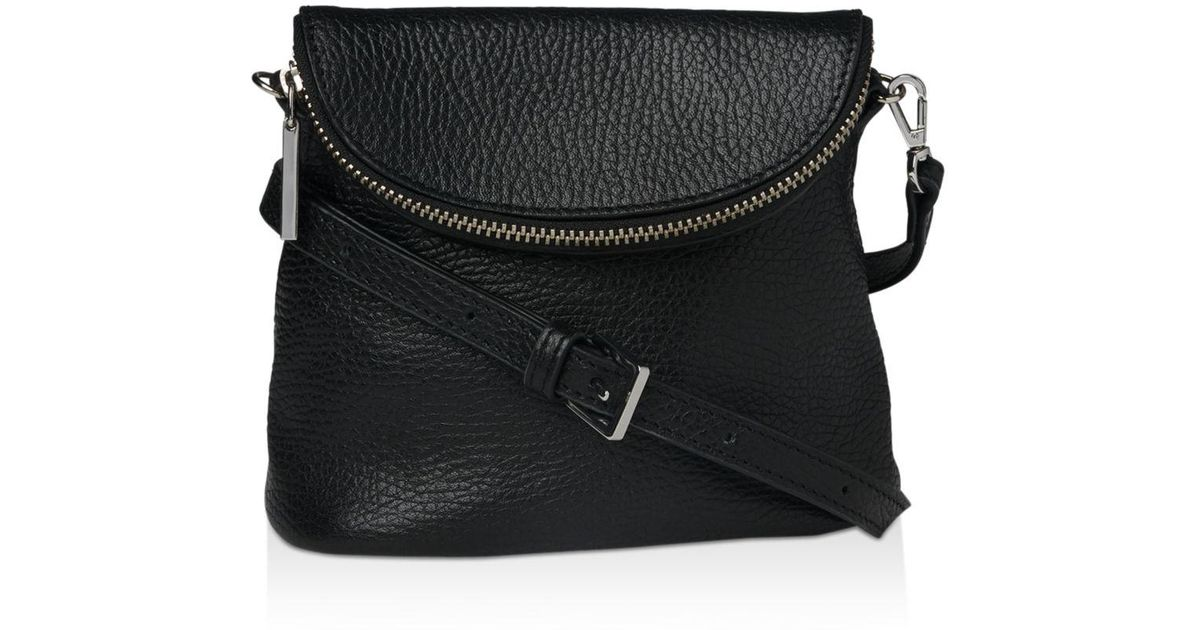 24c5ffc47ce Lyst - Whistles Victoria Mini Pebbled Leather Crossbody Bag in Black