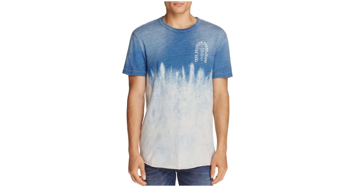 6ce5165067 True Religion Indigo Arch Crewneck Short Sleeve Tee in Blue for Men - Lyst