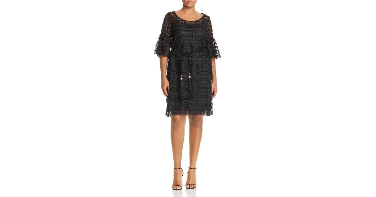 e2778abaa3b Lyst - Marina Rinaldi Diaspro Tulle Shift Dress in Black