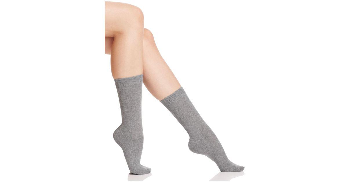 falke family socks in grey lyst. Black Bedroom Furniture Sets. Home Design Ideas