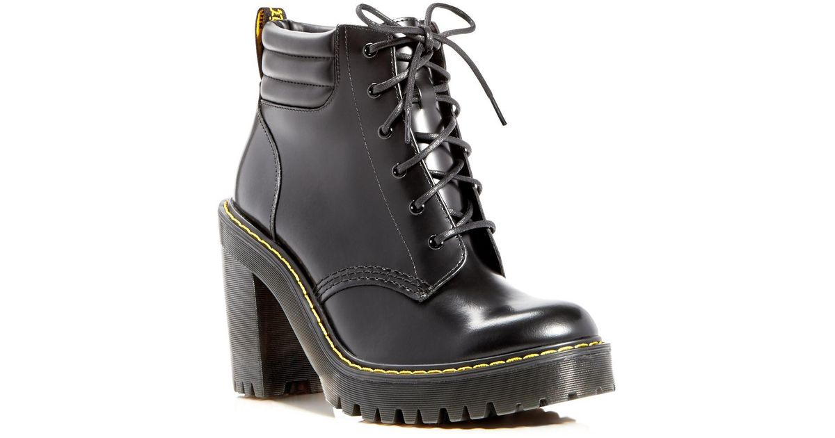 Booties DrMartens Heel Platform Persephone High Black W2HeEDIY9
