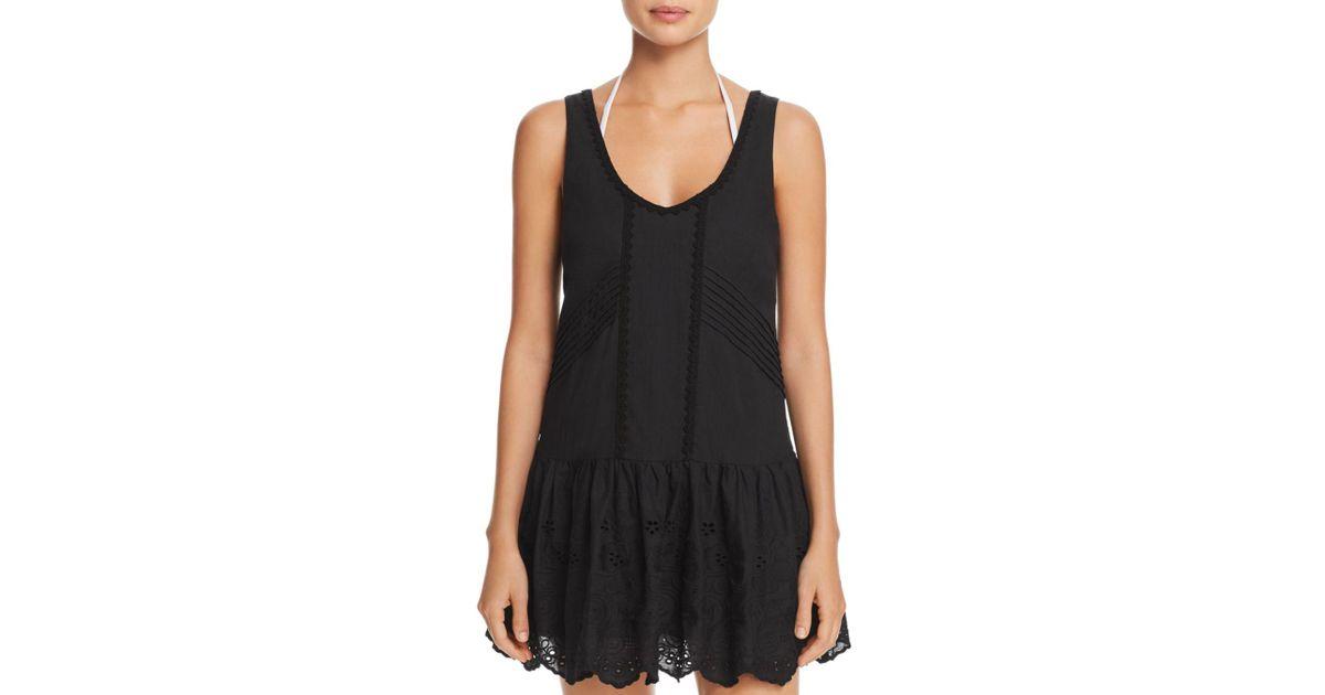 0f60f2a1ee138 MINKPINK Gardenia Tiered Mini Dress Swim Cover-up in Black - Lyst