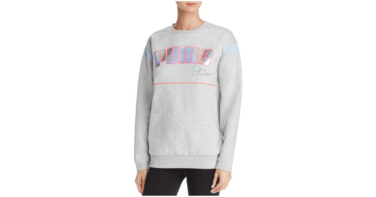 db875e5a8d PUMA Gray X Sophia Webster Logo Sweatshirt