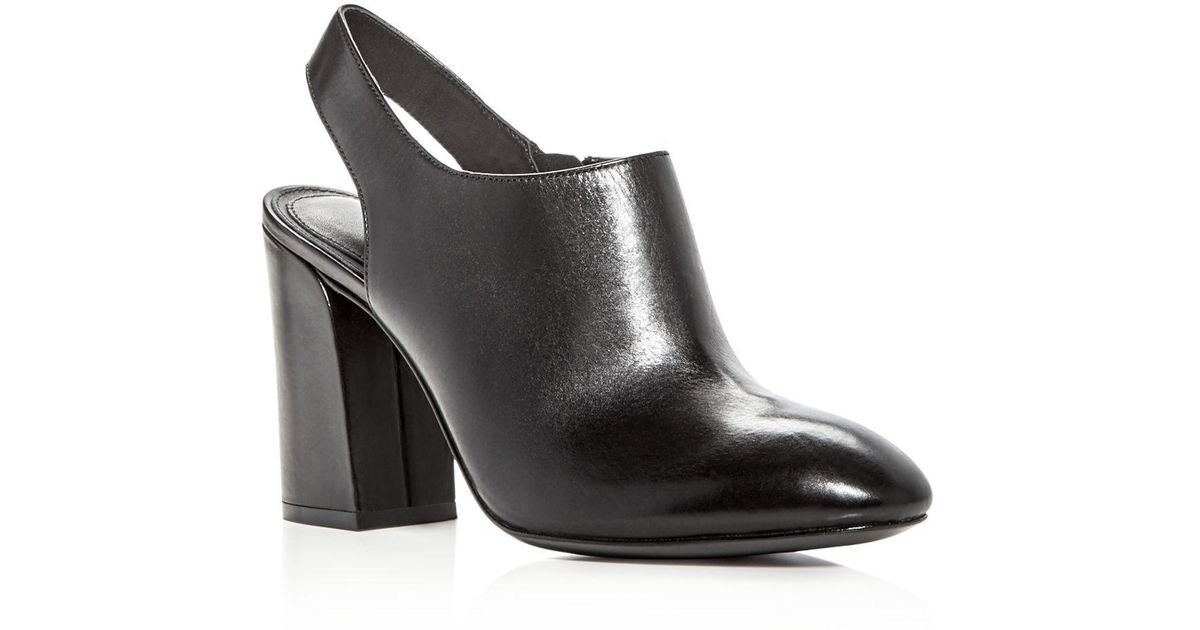 0038c20e4eb Michael Kors Black Collection Clancy Leather High Heel Booties