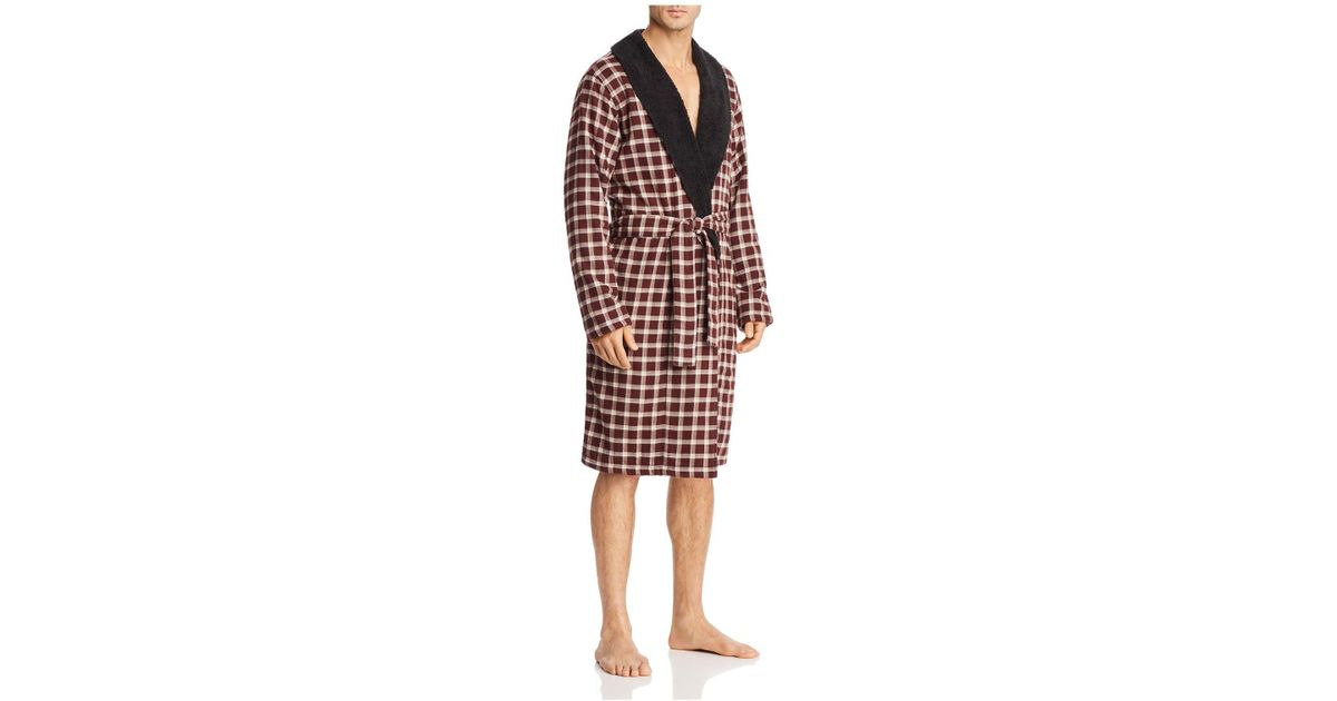 6c7218a307 Lyst - Ugg Kalib Plaid Robe in Red for Men