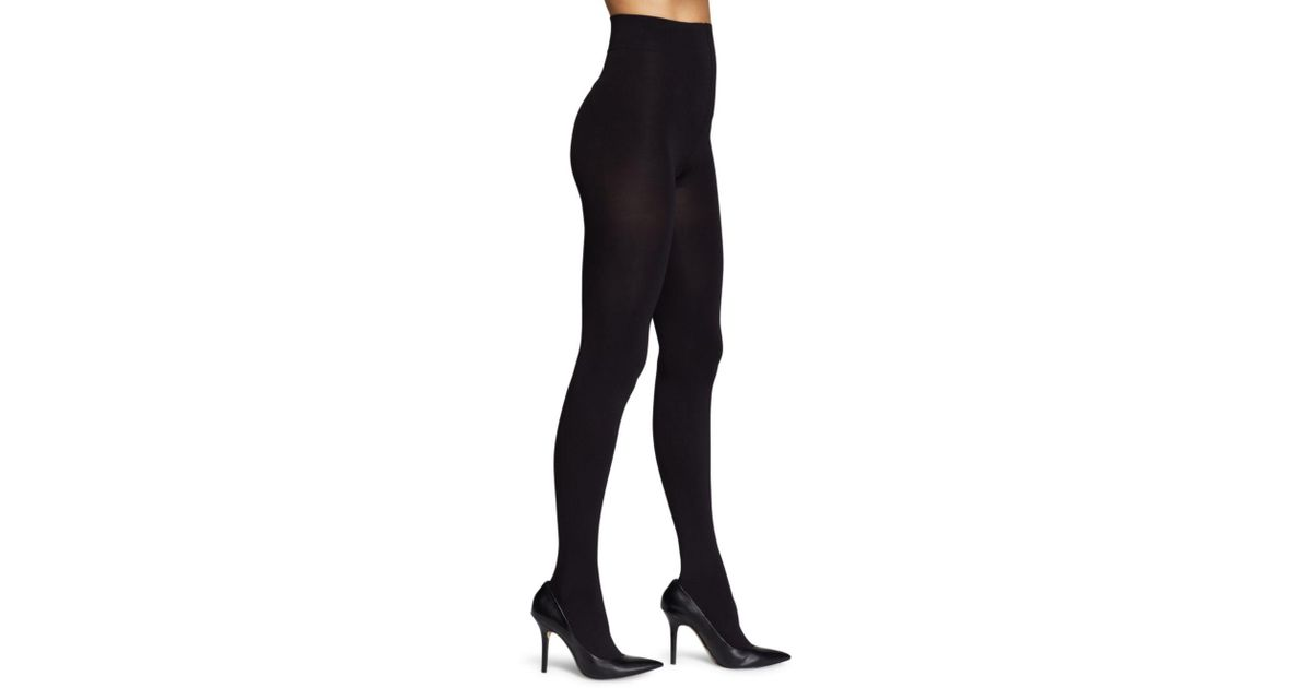 0d741734dbec9 Hue Absolute Opaque Tights in Black - Lyst