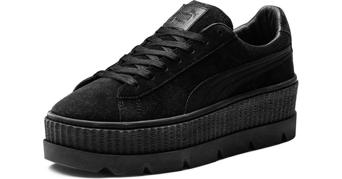 the best attitude 94cf0 5eed4 PUMA Black Men's Suede Cleated Creeper Platform Sneakers for men