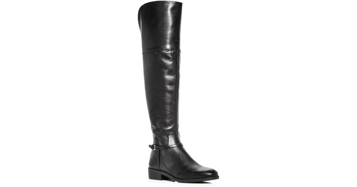 c3e1eddc137 Lyst - Cole Haan Women's Valentia Leather Over-the-knee Boots in Black
