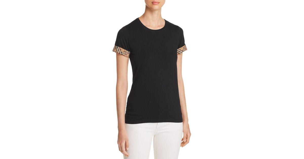 928a2ca38ab1 Burberry Check Cuff T Shirt - Image Of Shirt