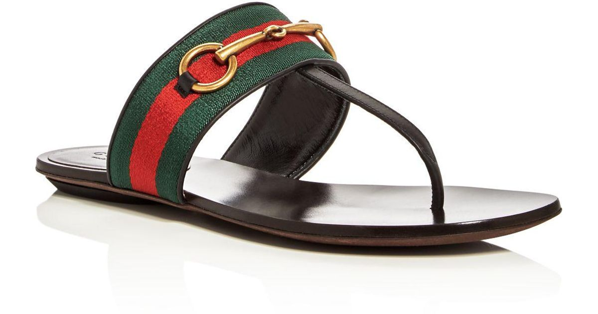 ab5ef081658 Lyst - Gucci Querelle Thong Sandals in Black