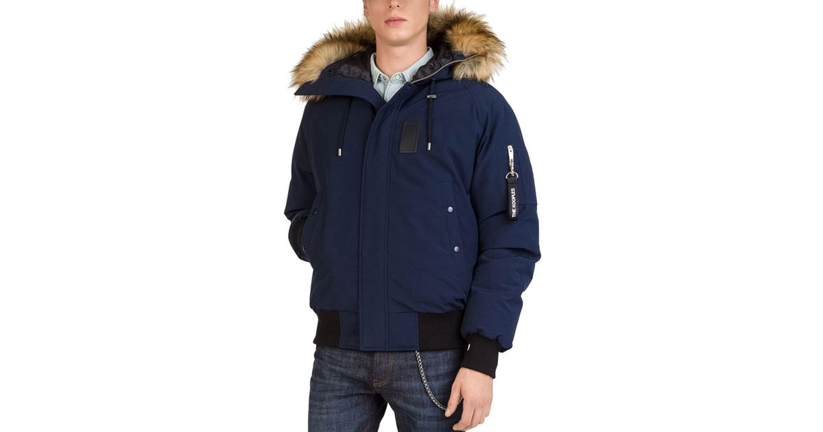 11b86a251d The Kooples Puffa Down Jacket in Blue for Men - Lyst