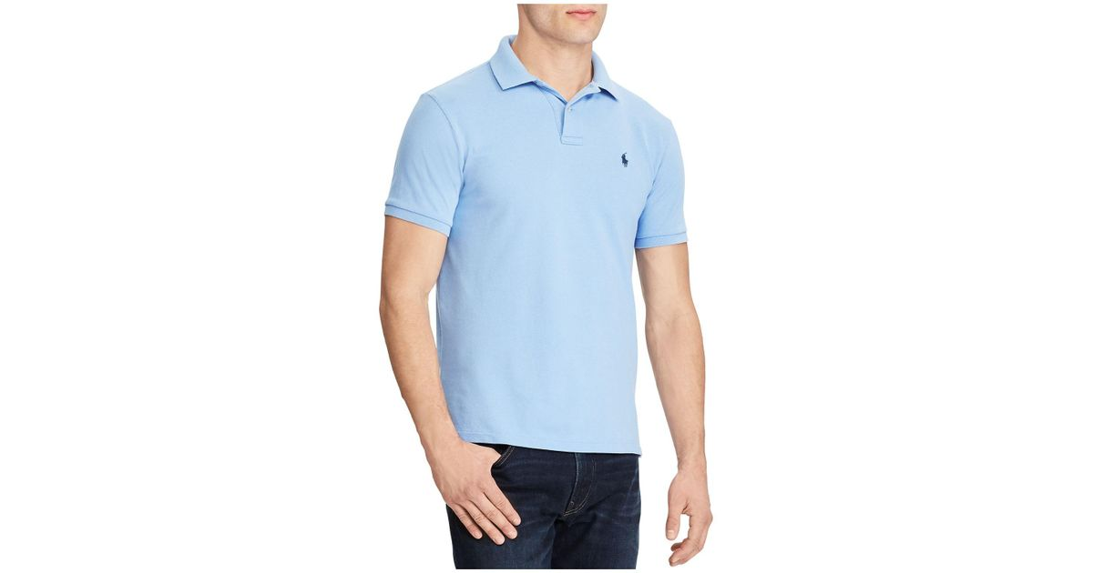 e947ed8c Lyst - Polo Ralph Lauren Weathered Mesh Classic Fit Polo Shirt in Blue for  Men