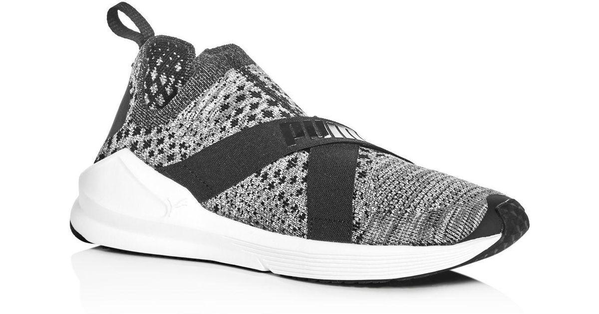 PUMA Gray Women's Fierce Evoknit Slip on Sneakers