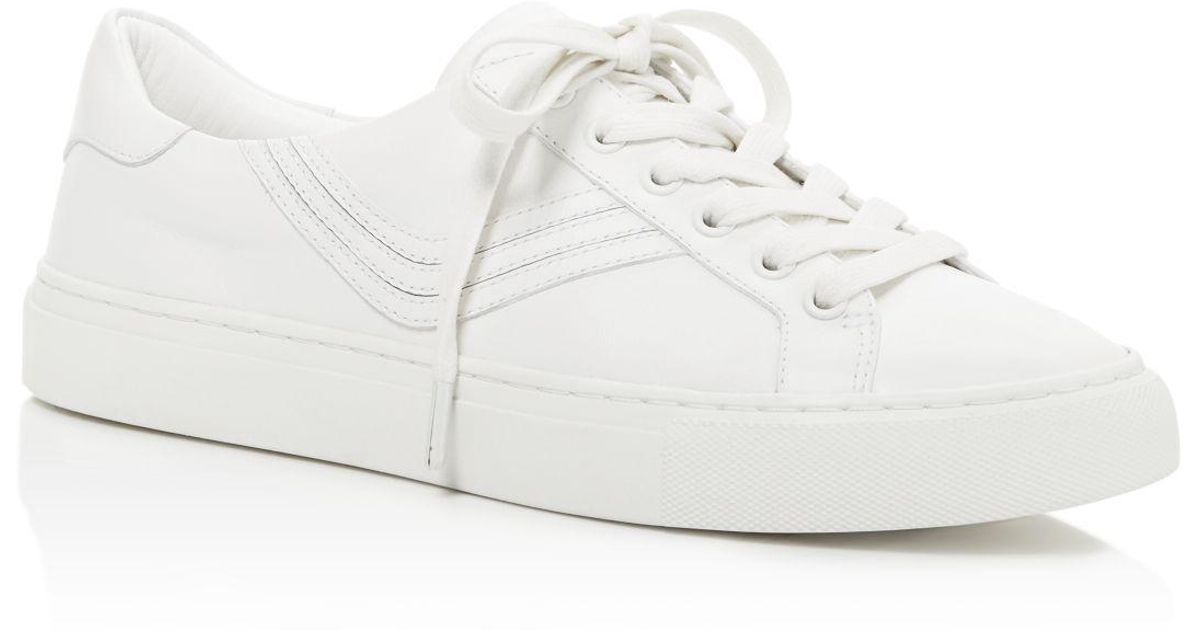79ebededff10 Lyst - Tory Burch Tory Sport Chevron Color Block Low Top Lace Up Sneakers  in White