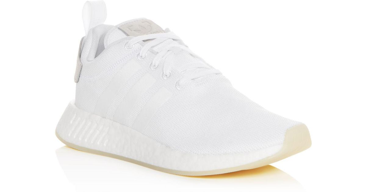 the latest 5687a 3cb3d Adidas White Men's Nmd R2 Lace Up Sneakers for men