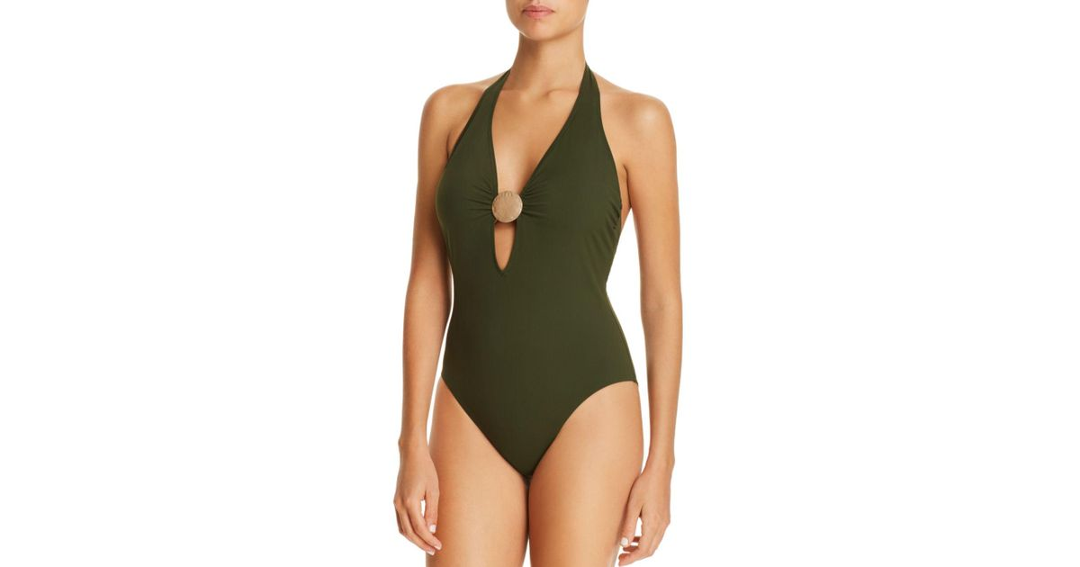 b5a86d49aeac Miraclesuit Laura Mars Bianca One Piece Swimsuit in Green - Save 1% - Lyst