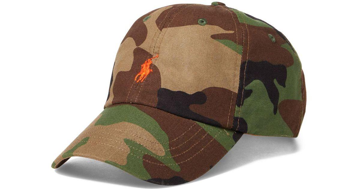 8e1de4cf40f Lyst - Polo Ralph Lauren Camouflage Classic Baseball Hat in Green for Men