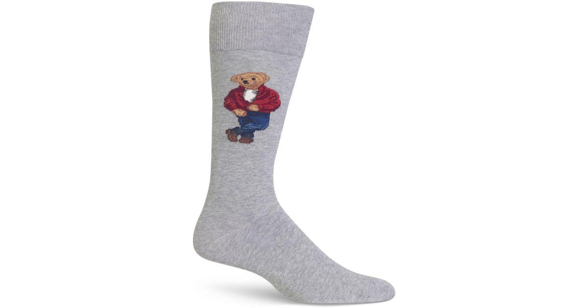 9ab32e81 Polo Ralph Lauren Gray James Dean Bear Socks for men