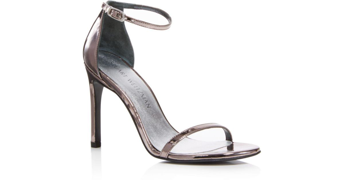10c8a1e6d Lyst - Stuart Weitzman Nudistsong Ankle Strap High-heel Sandals